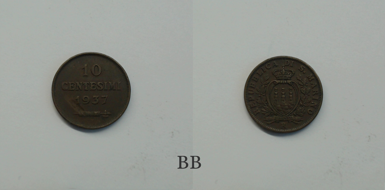 9b000c62de San Marino 10 Centesimi 1937 - Numismatica Internazionale